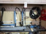 Lot 47 - LOT - CONTENTS OF 2-DOOR SECTION OF LARGE STEEL CABINET TO INCLUDE: (6) HYDRAULIC POWER UNITS AND