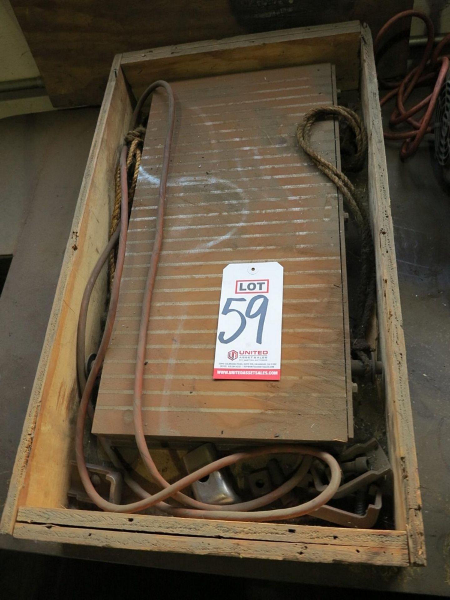 """Lot 59 - WALKER HAGOU B.V. 12"""" X 24"""" MAGNETIC CHUCK, MODEL 46, 110 VOLTS"""
