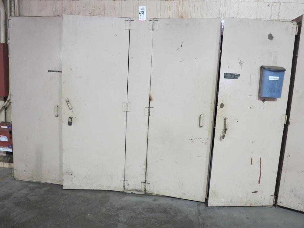 """Lot 49 - LARGE STEEL 4-DOOR STORAGE CABINET, 11' X 18"""" X 7'"""