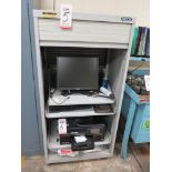 Lot 5 - PORTABLE COMPUTER CABINET W/ MONITOR AND KEYBOARD