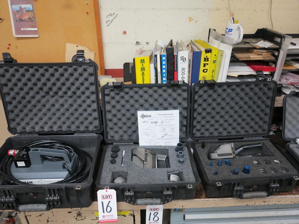 Lot 16 - SPX POWER TEAM 9562 MANIFOLD, 10,000 PSI, W/ (2) LOKRING LOKTOOL KITS