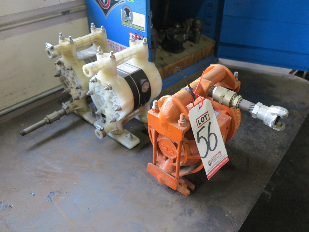 Lot 56 - LOT - (2) YAMADA NDP-15FPT-D AND (1) WILDEN M2 DOUBLE DIAPHRAGM AIR POWERED PUMPS
