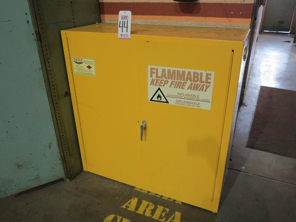 Lot 44 - EAGLE MFG. FLAMMABLE LIQUIDS CABINET, MODEL 3010, 30 GALLON CAPACITY