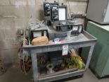 Lot 514 - LOT - RUBBERMAID CART W/ CONTENTS TO INCLUDE: (2) TELEDYNE 275R PORTABLE TURBINE GENERATOR PURGE GAS