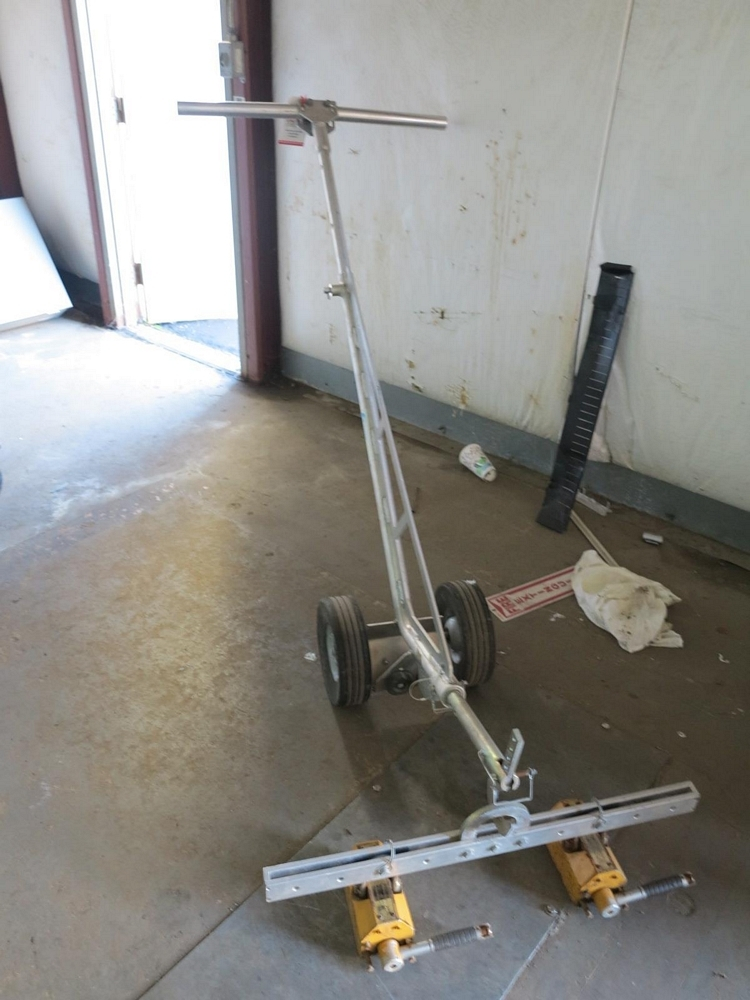 Lot 464 - CONDUX 2-WHEEL LIFTER, W/ (2) CHINA LIFTING PERMANENT MAGNETIC LIFTERS, 300 KG EACH