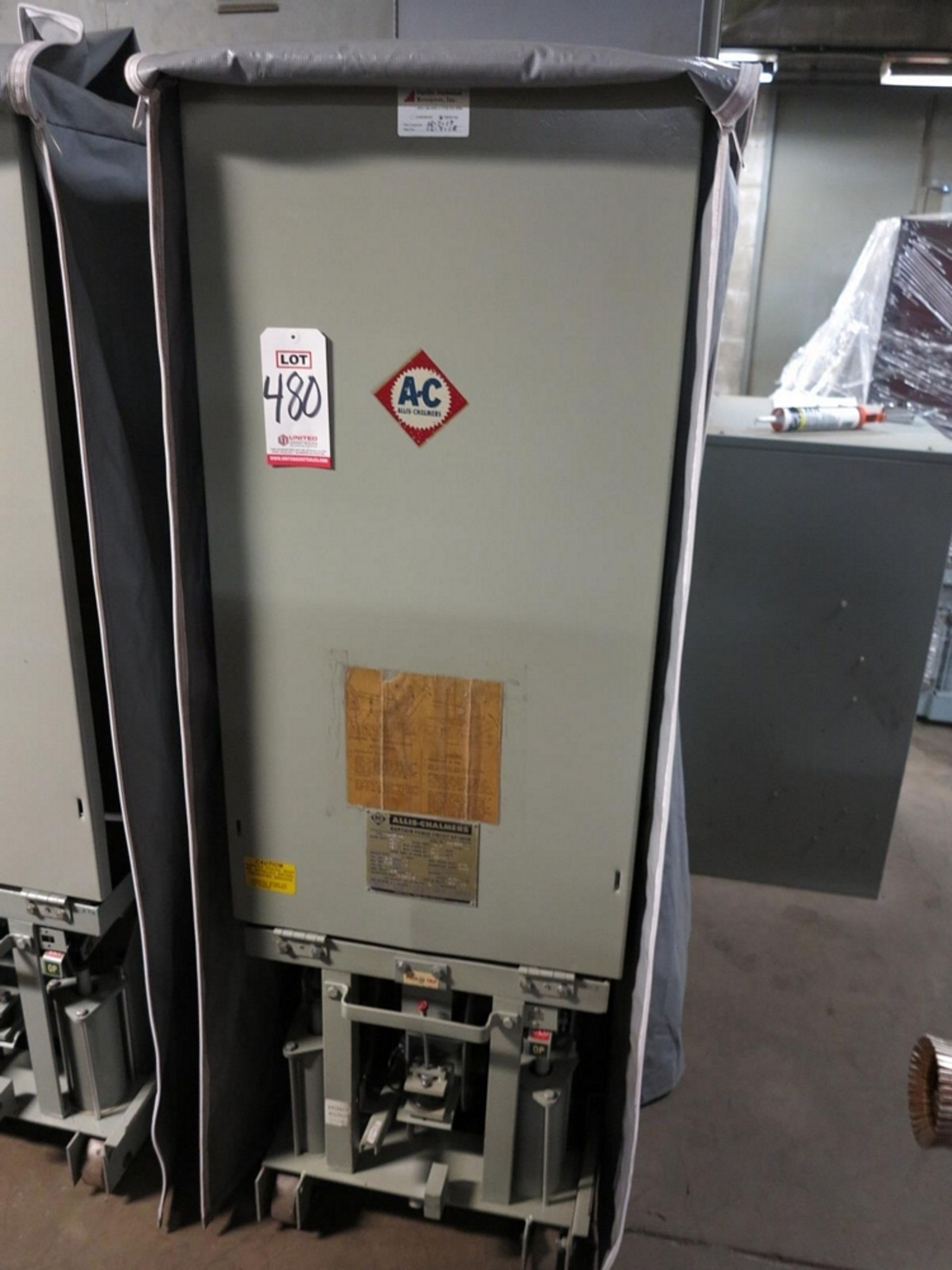 Lot 480 - ALLIS CHALMERS CIRCUIT BREAKER, TYPE MA-250A-1, 4160 V, 1200 A