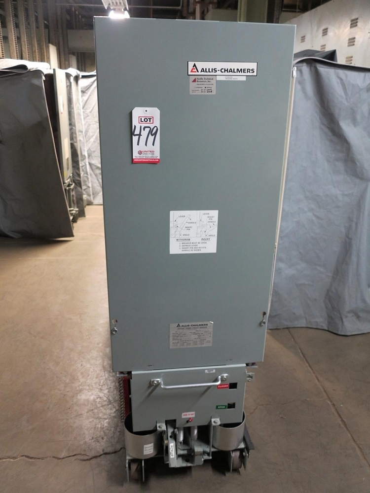 Lot 479 - ALLIS CHALMERS CIRCUIT BREAKER, TYPE MA-250C, 4760 V, 2000 A