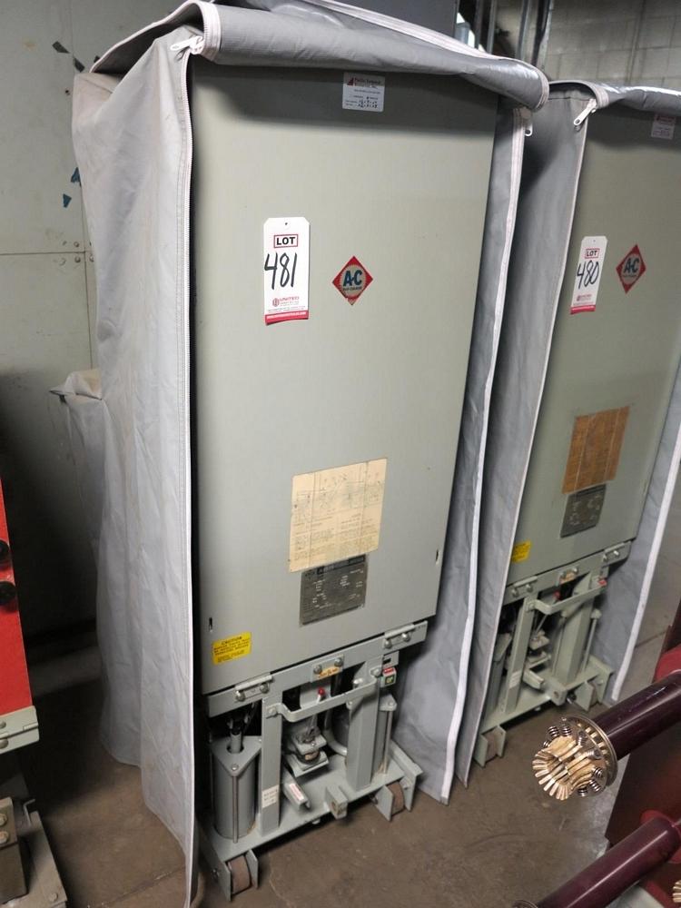 Lot 481 - ALLIS CHALMERS CIRCUIT BREAKER, TYPE MA-250A-1, 4160 V, 1200 A