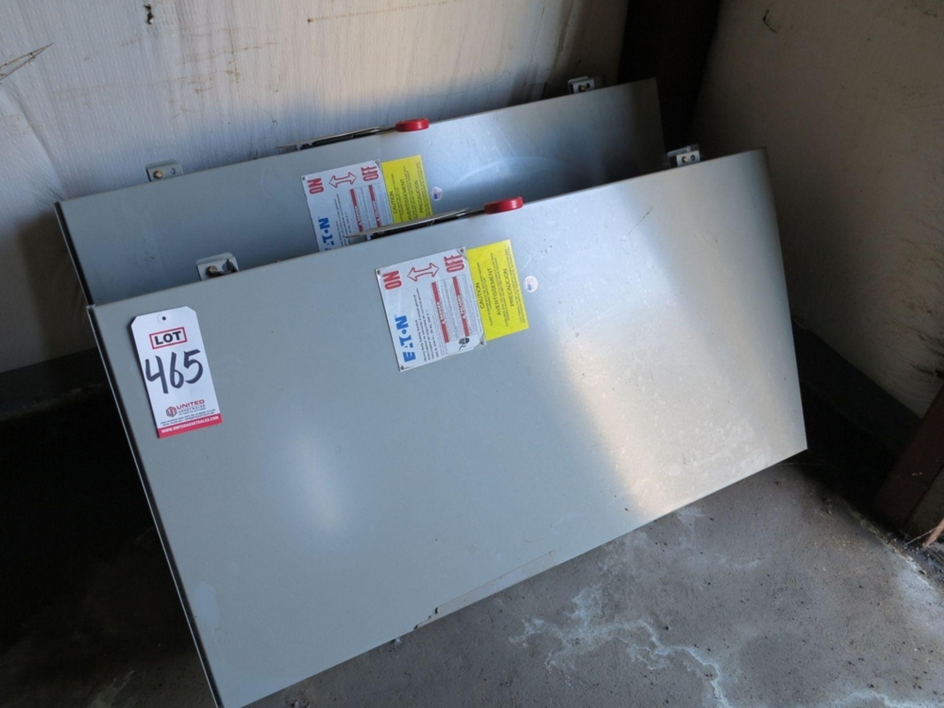 Lot 465 - LOT - (2) EATON HEAVY DUTY SAFETY SWITCH, 400 A, 600 V, 60 HZ, 250 V