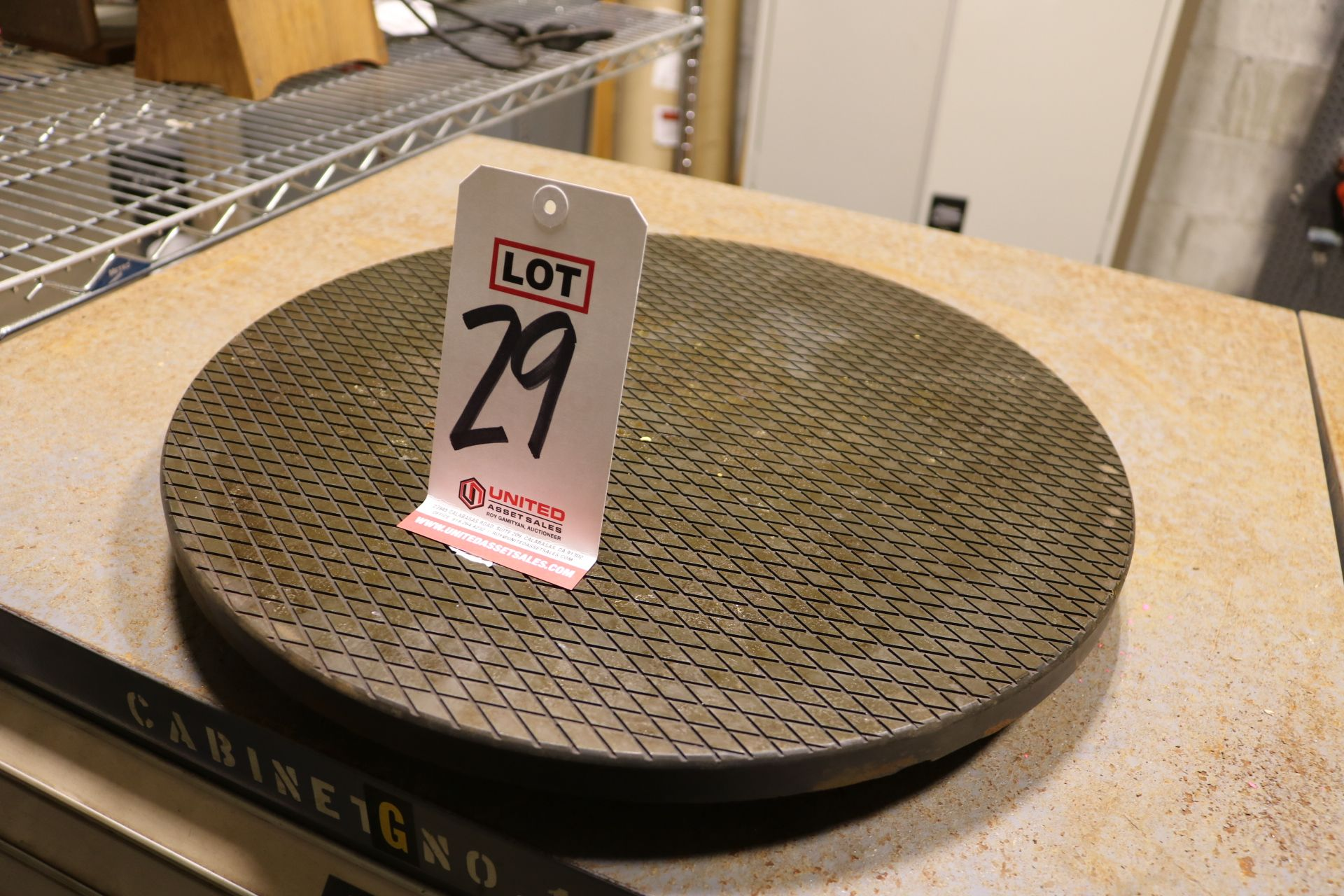 "Lot 29 - 18"" LAPPING PLATE, NEW/UNUSED"