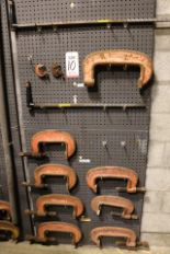 """Lot 10 - LOT - (1) SECTION OF STEEL PEG BOARD, 32"""" X 84"""", W/ CONTENTS: (2) EXTENSION BARS AND INDUSTRIAL """""""