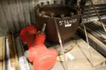 "Lot 50 - LOT - MISC STEEL SHAFTS, (2) 41"" LED LIGHT BARS, CONDENSATE PUMP CASE BOWL, GREENBERG SAN"