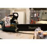 "Lot 30 - LOT - MAKITA DCS6400 GAS POWERED CHAINSAW, 20"" BAR, W/ CHAIN, ETC."