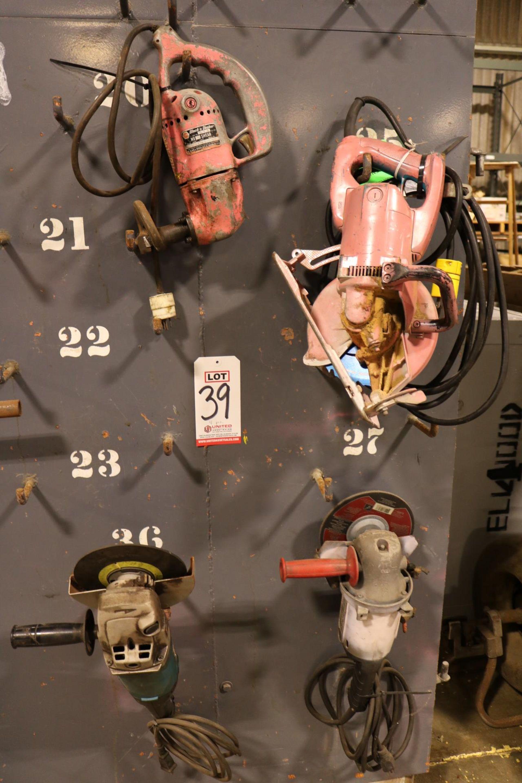 "Lot 39 - LOT - (1) MAKITA 5277B 7-1/4"" WORM DRIVE CIRCULAR SAW, (1) BLACK & DECKER NO. 12 ELECTRIC SHEAR"