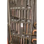 "Lot 7 - LOT - (1) SECTION OF STEEL PEG BOARD, 32"" X 84"", W/ CONTENTS: COMBINATION WRENCHES"
