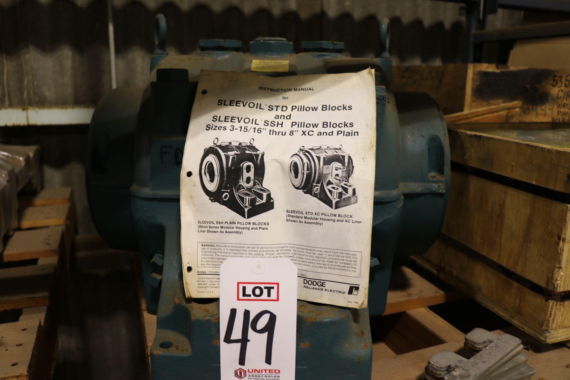 "Lot 49 - LOT - AIR PREHEATER RACK DRIVE SPROCKET; DODGE SLEEVOIL STD XC PILLOW BLOCK; 6"" X 6"" INSULATED MOTOR"