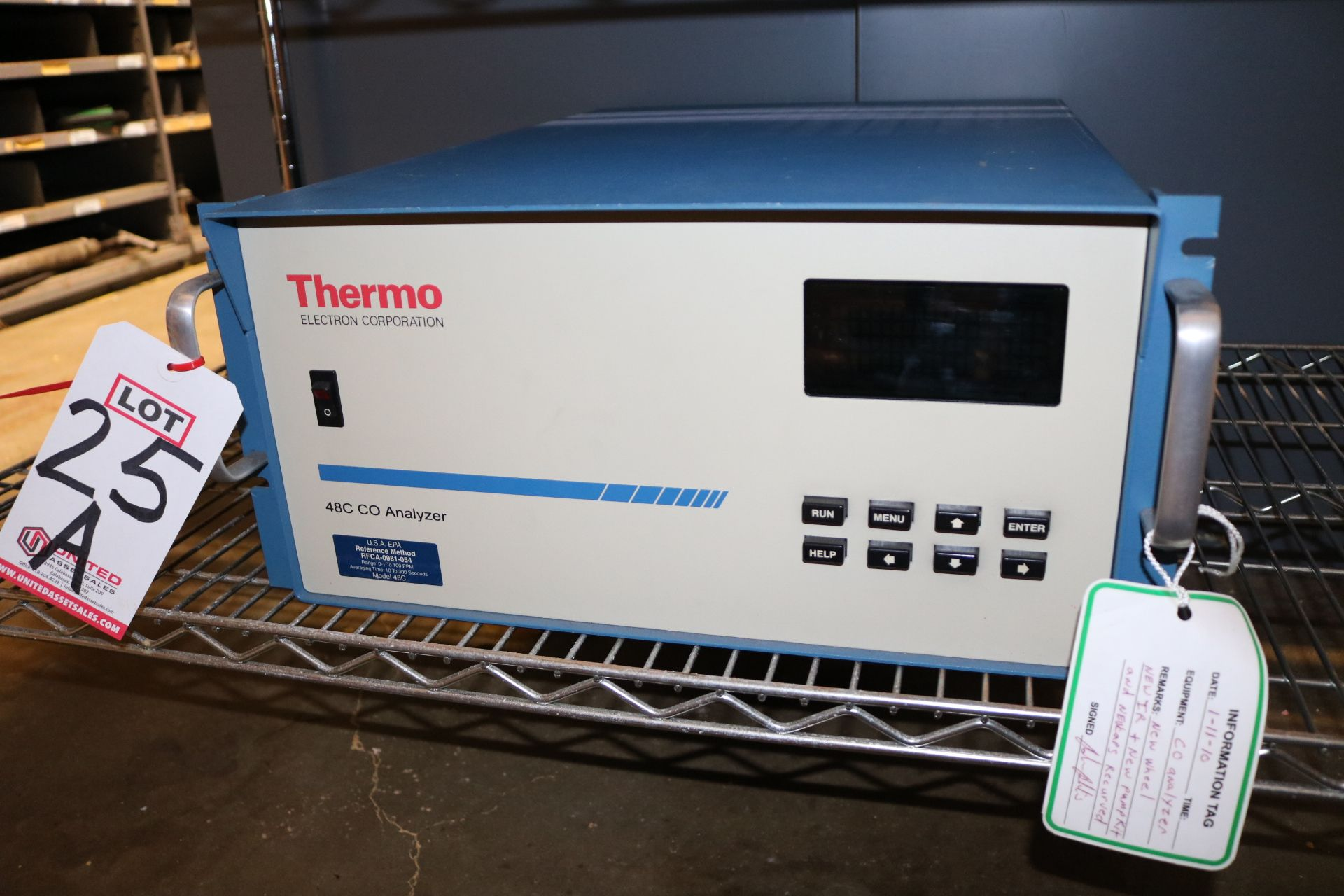 Lot 25A - THERMO ELECTRON CORP. 48C CO ANALYZER