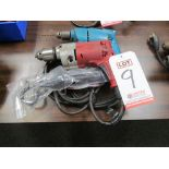 "Lot 9 - LOT - (2) DRILLS: (1) 1/2"" MILWAUKEE #0234-1 AND (1) 3/8"" MAKITA #6510 LVR"
