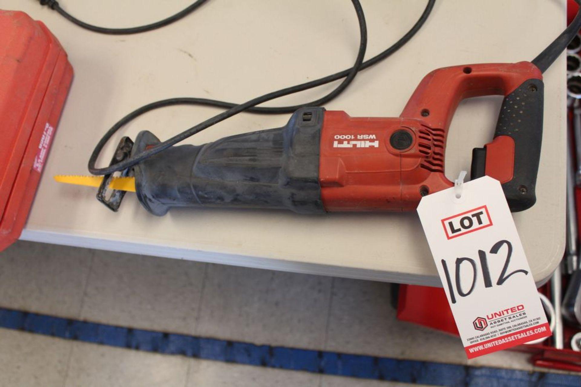 Lot 1012 - HILTI MODEL WSR-1000 RECIPROCATING SAW, (LUNCHROOM)