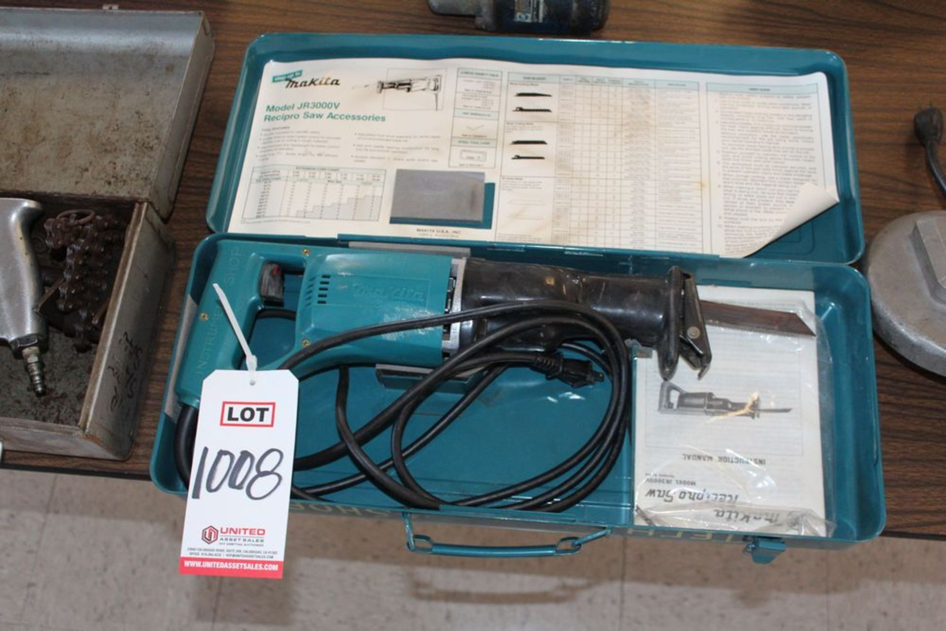 Lot 1008 - MAKITA MODEL JR300V RECIPROCATING SAW, (LUNCHROOM)