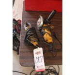 "Lot 1017 - LOT - (2) DEWALT 4-1/2"" ELECTRIC RIGHT ANGLE GRINDERS, (LUNCHROOM)"