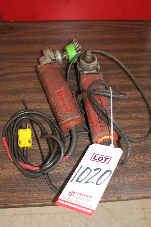 "Lot 1020 - LOT - (2) DEWALT 4-1/2"" ELECTRIC RIGHT ANGLE GRINDERS, (LUNCHROOM)"