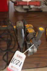 "Lot 1021 - LOT - (2) DEWALT 4-1/2"" ELECTRIC RIGHT ANGLE GRINDERS, (LUNCHROOM)"