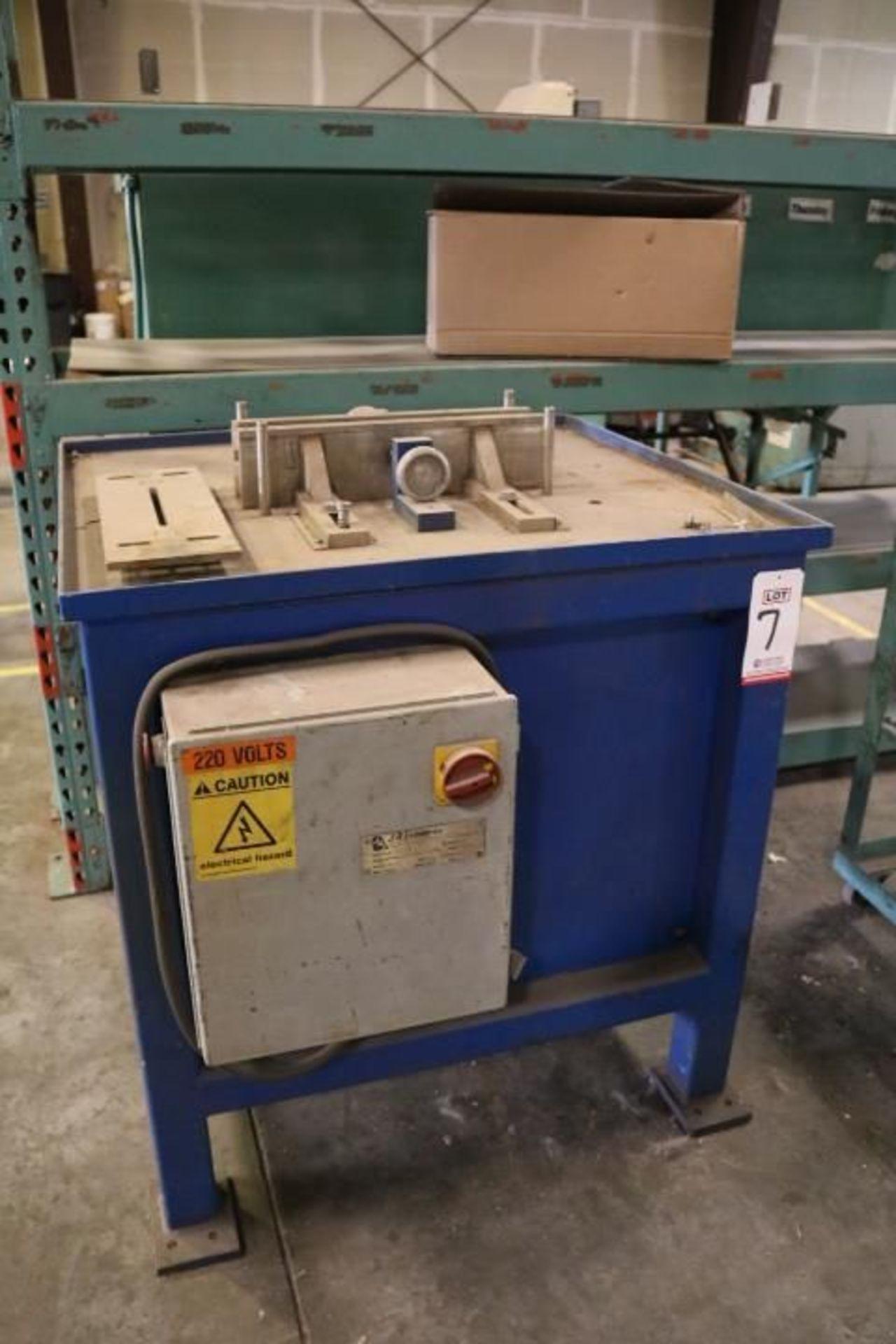 Lot 7 - 2008 JRI SPLIT SAW, (CUSTOM BRICK TABLE SAW), MODEL TRA05, 220 V, 3-PHASE, S/N BTS08081