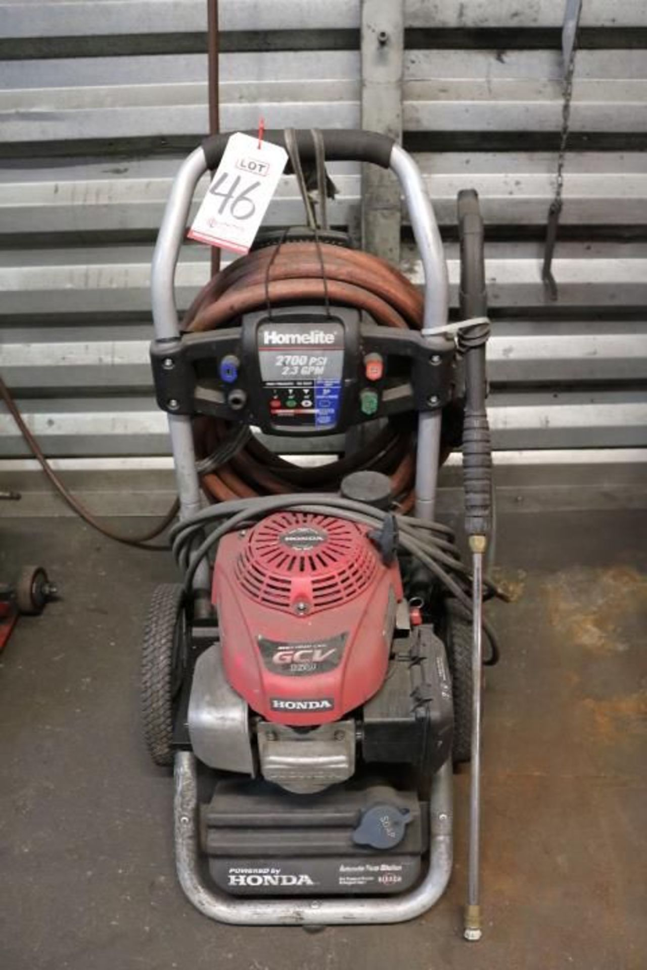 Lot 46 - HOMELITE HONDA 2,700 PSI PRESSURE WASHER