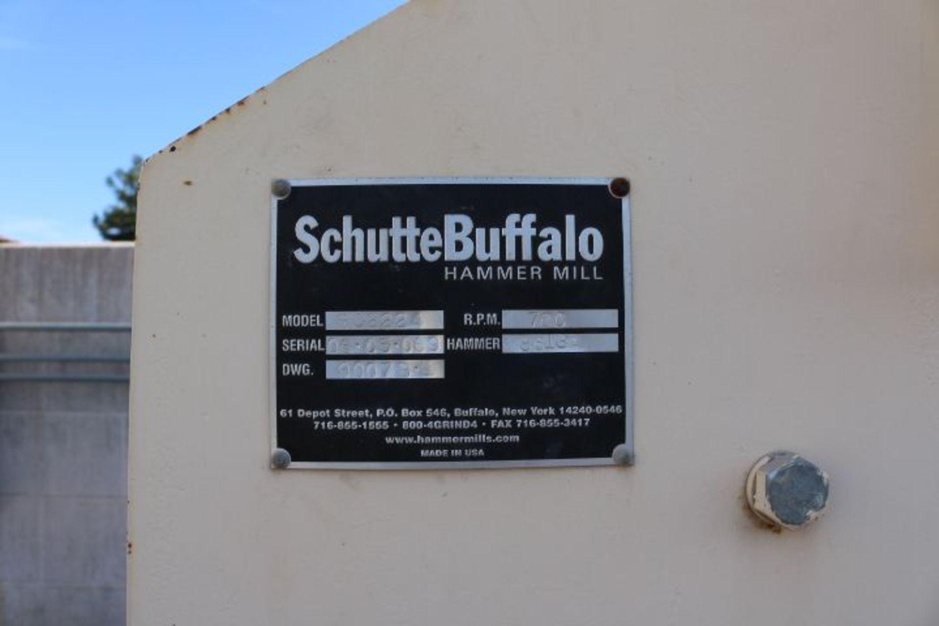 """Lot 22 - SCHUTTE BUFFALO MODEL RC2224, 40 HP HAMMERMILL, S/N 0605069, 22"""" X 24"""" OPENING, W/ 24"""" X 20'"""