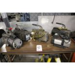 Lot 31 - LOT - ASSORTED VACUUM PUMPS