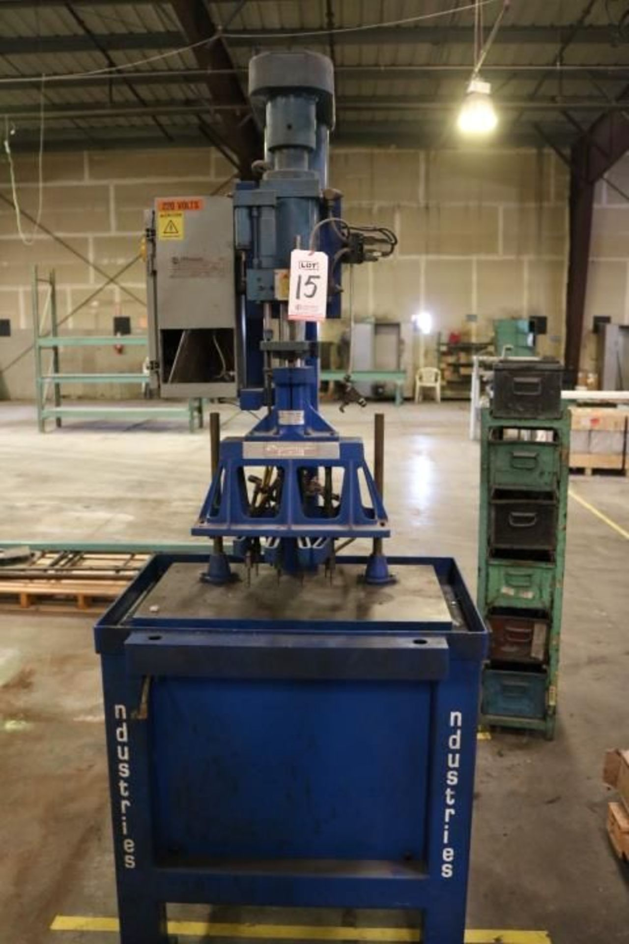Lot 15 - JRI MULTI-DRILL, (CUSTOM MULTI-DRILL HEAD MACHINE), MODEL TRA03, 220 V, 3-PHASE, S/N MDM08081, (MADE