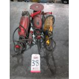 "Lot 38 - LOT - (2) MILWAUKEE AND (1) DEWALT 7"" HEAVY DUTY ANGLE GRINDERS"