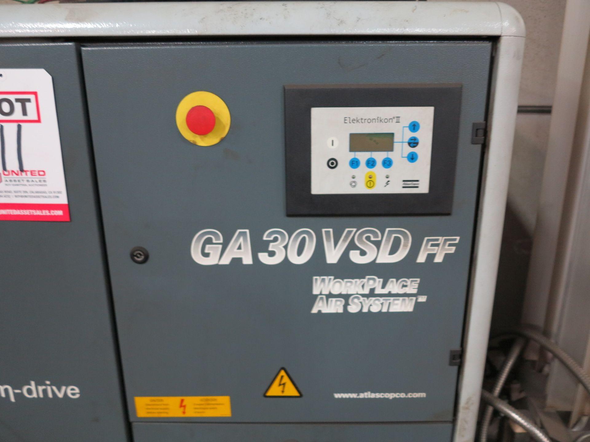 Lot 11 - 2006 ATLAS COPCO AIR COMPRESSOR, GA3VSDFF, 20 HP, S/N API421343