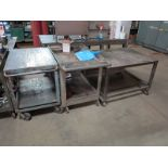 Lot 43 - LOT - (6) SHOP CARTS W/ MISC CONTENTS
