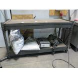 Lot 50 - LOT - (2) 2' X 5' WORK BENCHES AND 2-DOOR WORK TOP CABINET, ALL W/ MISC CONTENTS
