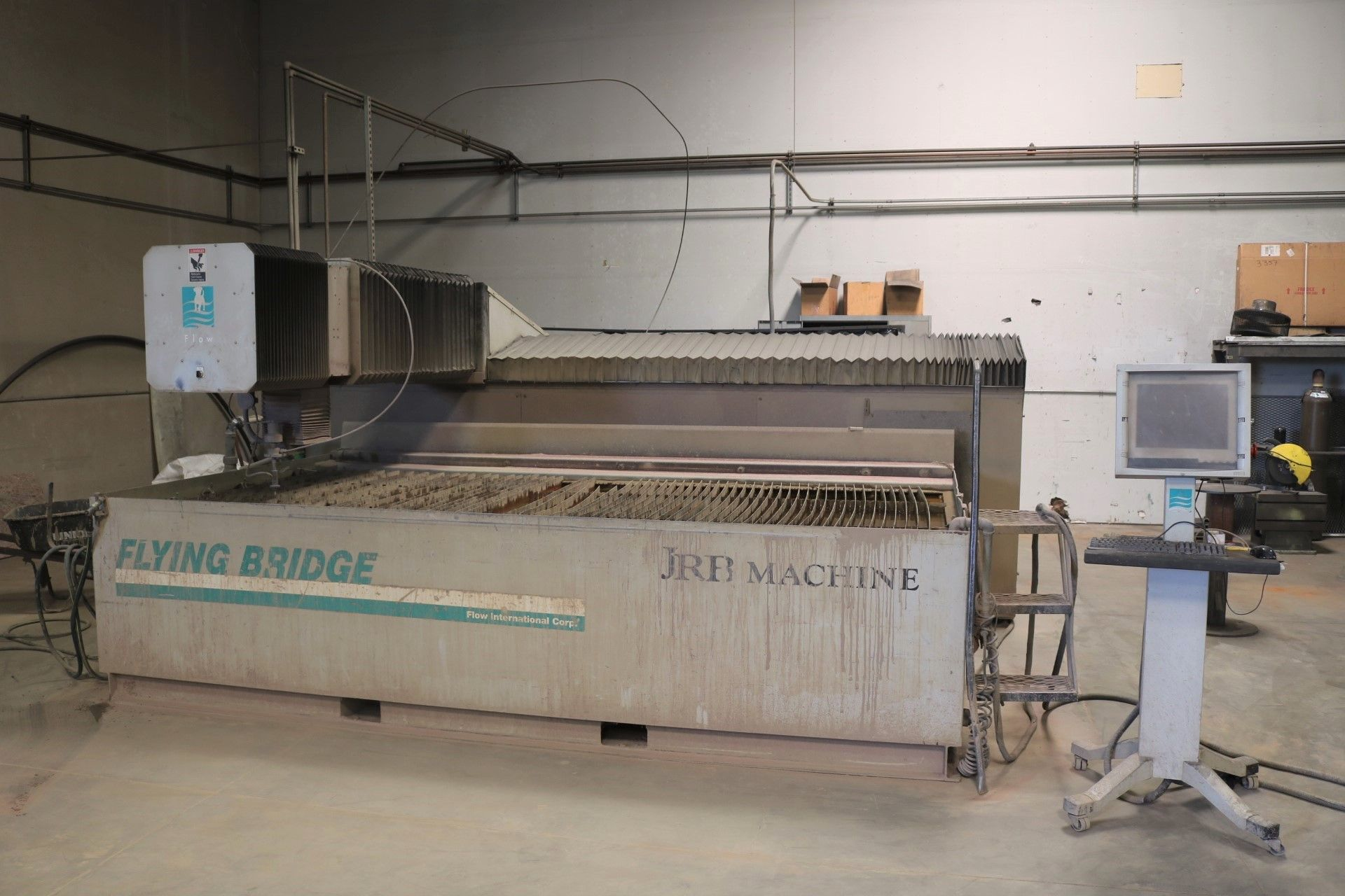 Lot 2 - 2000 FLOW FLYING BRIDGE CNC ABRASIVE WATERJET, 60,000 PSI ELS PUMP, M320 VERSION 4 PC CONTROL