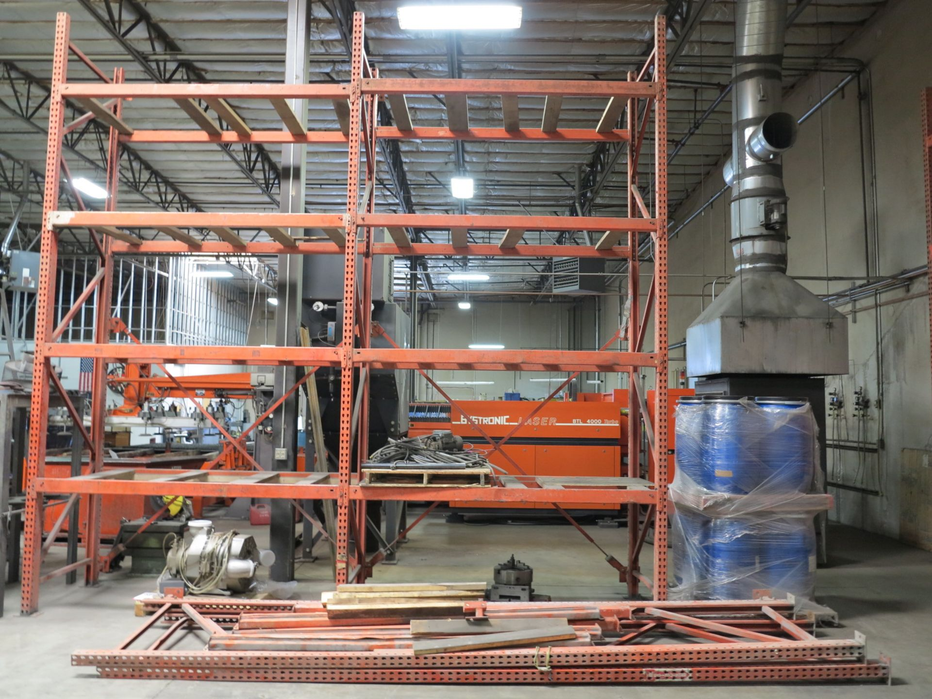 """Lot 18 - LOT - (6) SECTIONS OF PALLET RACKING, 94"""" BEAMS, 16' UPRIGHTS, CONTENTS NOT INCLUDED"""