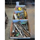 Lot 21 - LOT - (3) BOXES OF HOLE SAWS AND MISC HAND TOOLS