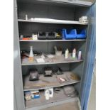 Lot 51 - 2-DOOR CABINET W/ MISC WELDING ITEMS