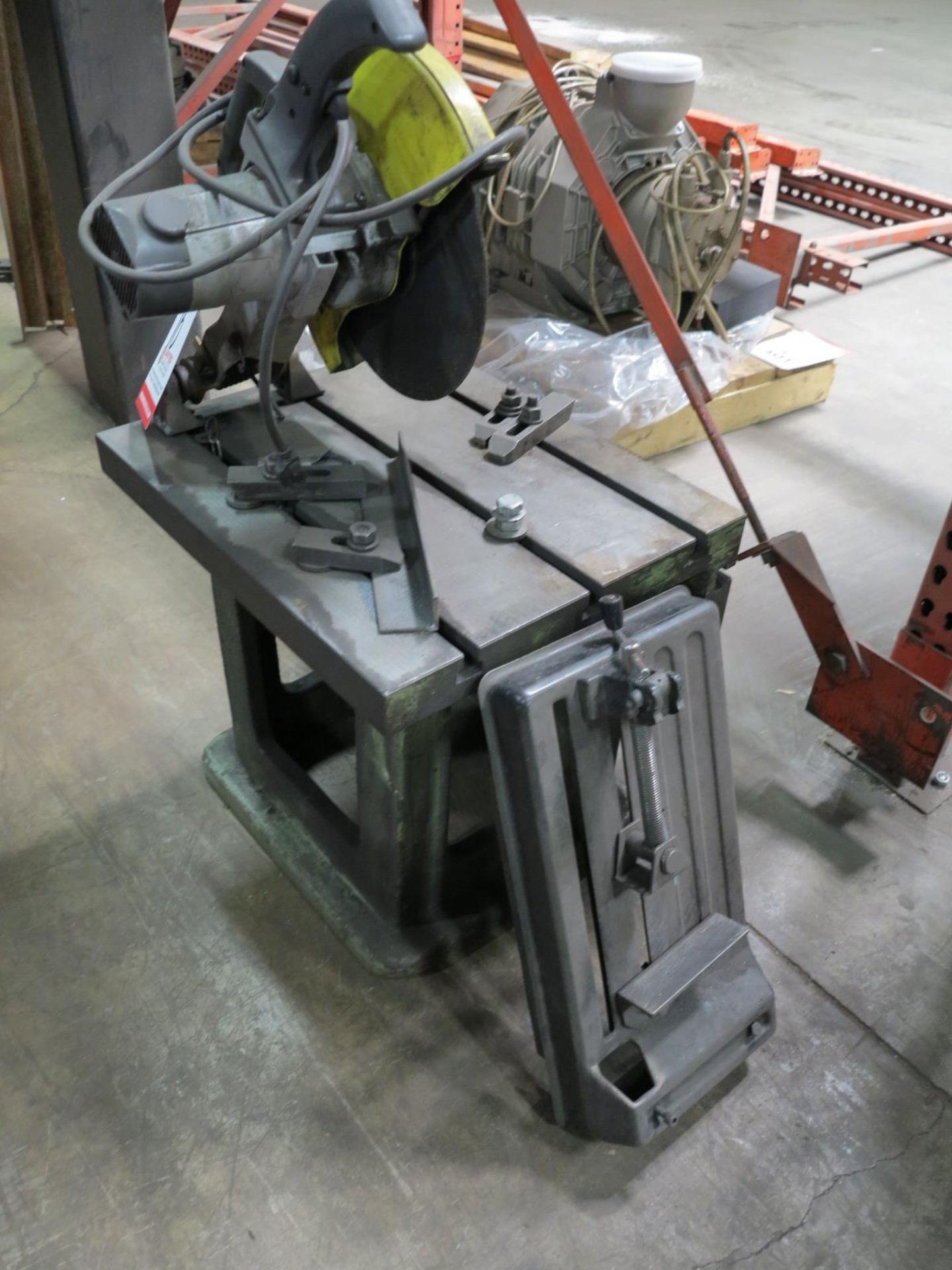 """Lot 16 - JEPSON 14"""" CUT OFF SAW, MODEL 9115, W/ T-SLOTTED TABLE"""