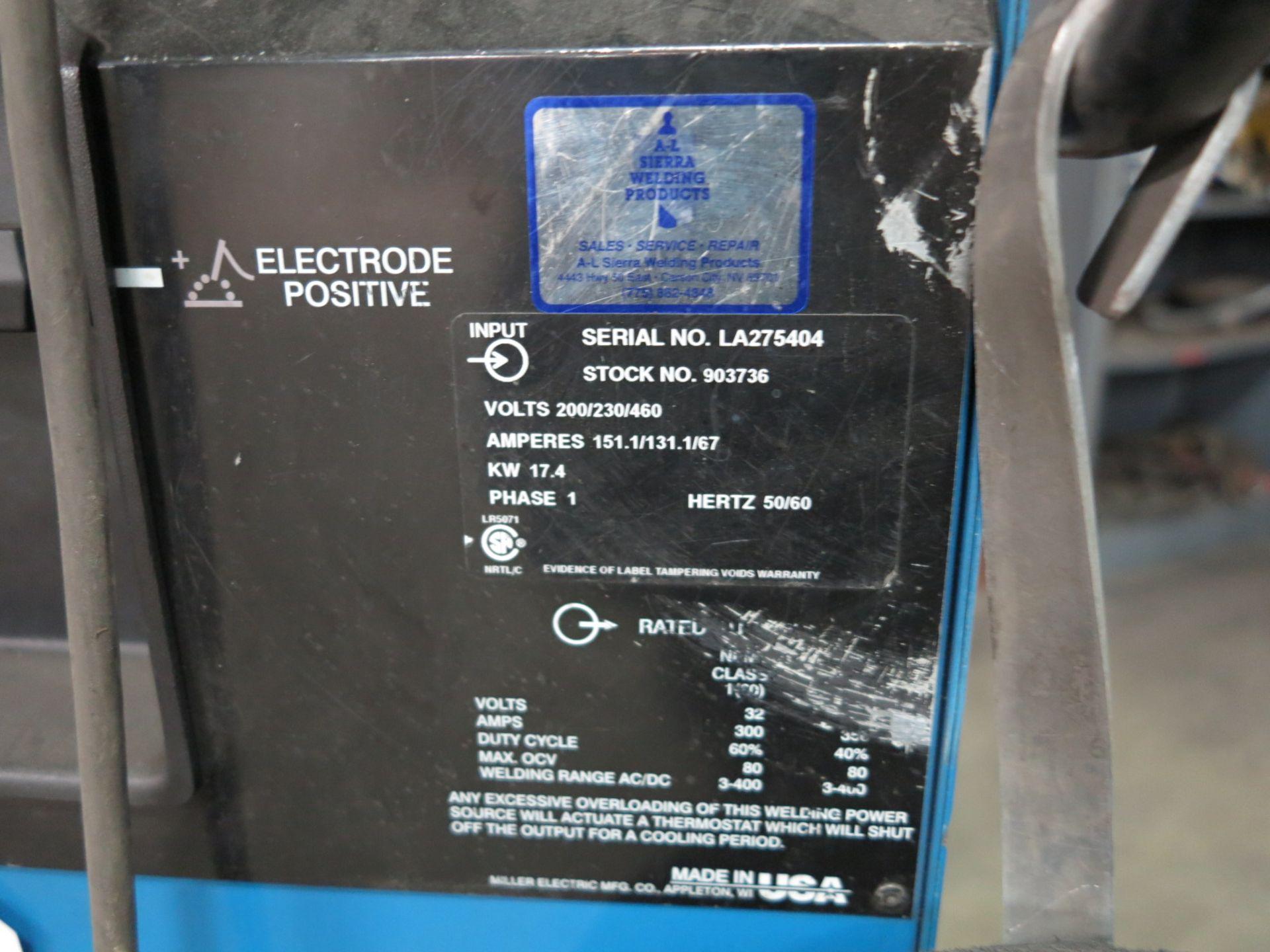 Lot 8 - MILLER SYNCROWAVE 350LX CC-AC/DC WELDER, S/N LA275404