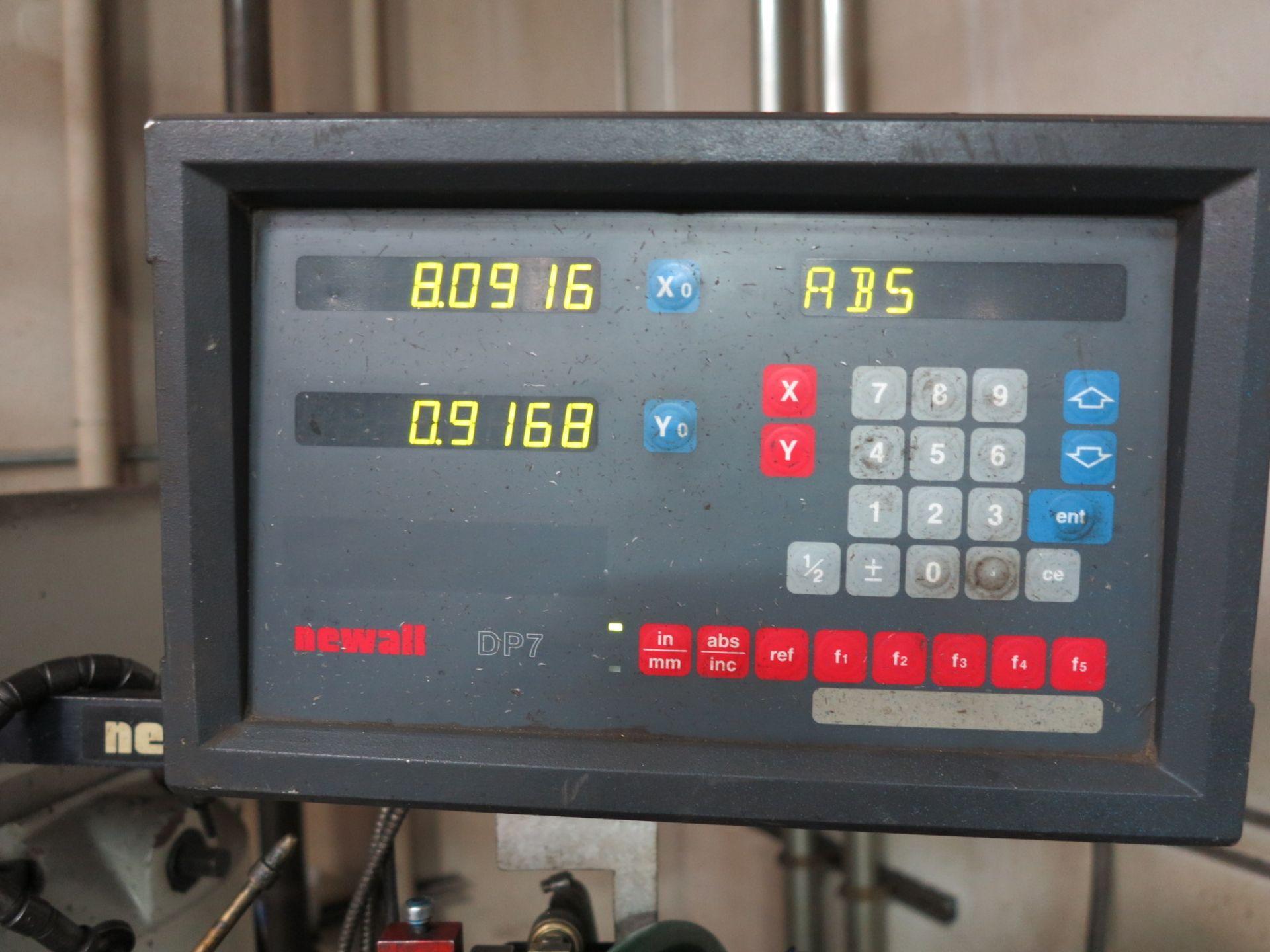 "Lot 5 - ACRA VERTICAL MILL, MODEL A3V, 10"" X 54"" TABLE, POWER FEED, 10"" RAISER BLOCK, NEWALL DRO, 50-3750"