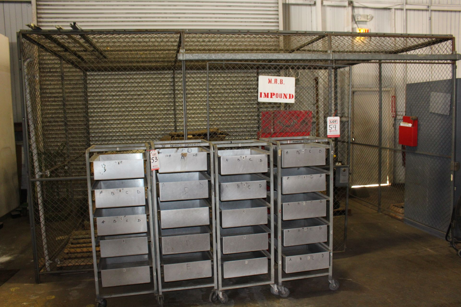Lot 54 - SECURITY CAGE ENCLOSURE, 15' X 10' X 8' HT, W/ ROOF