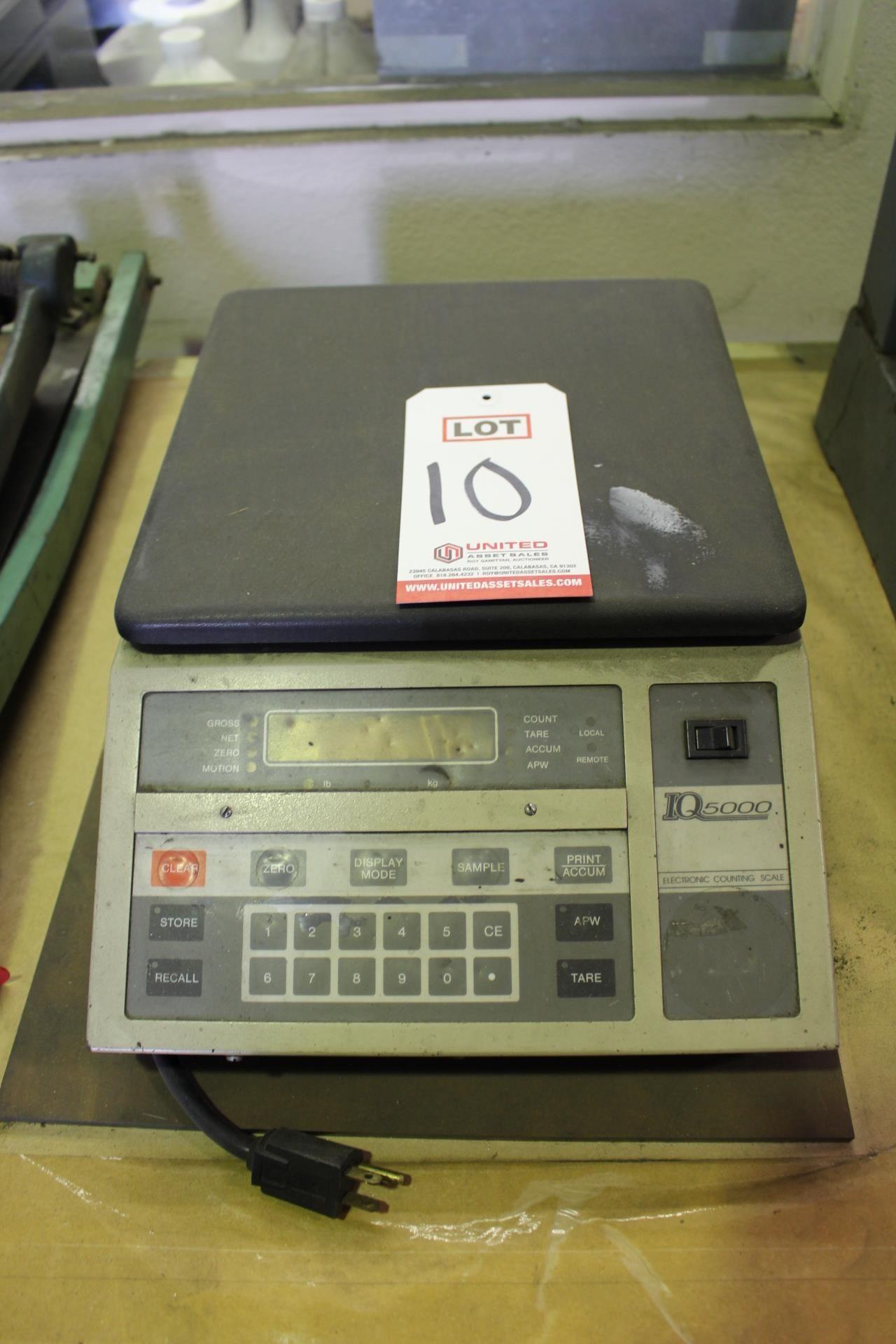 Lot 10 - RICE LAKE IQ5000 ELECTRONIC COUNTING SCALE, MODEL IQ5000GACA, 100 LB CAPACITY X .01