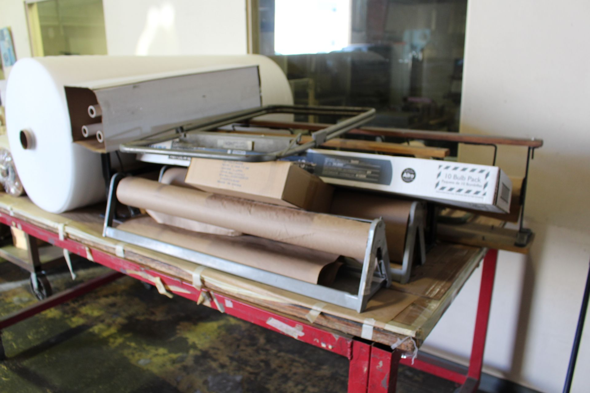 Lot 13 - LOT - SHIPPING SUPPLIES ON (2) CARTS