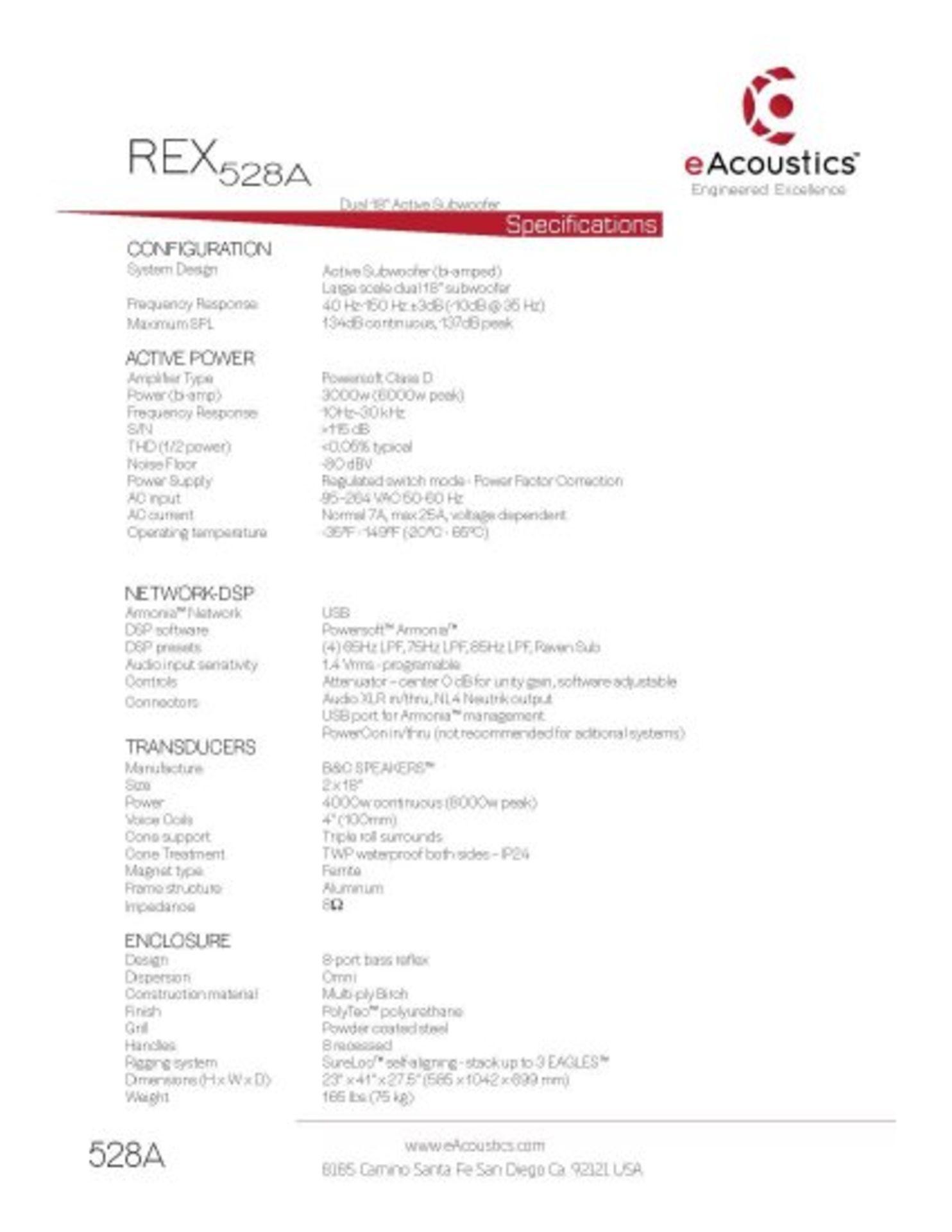 Lot 0N - REX528A DATA SHEET