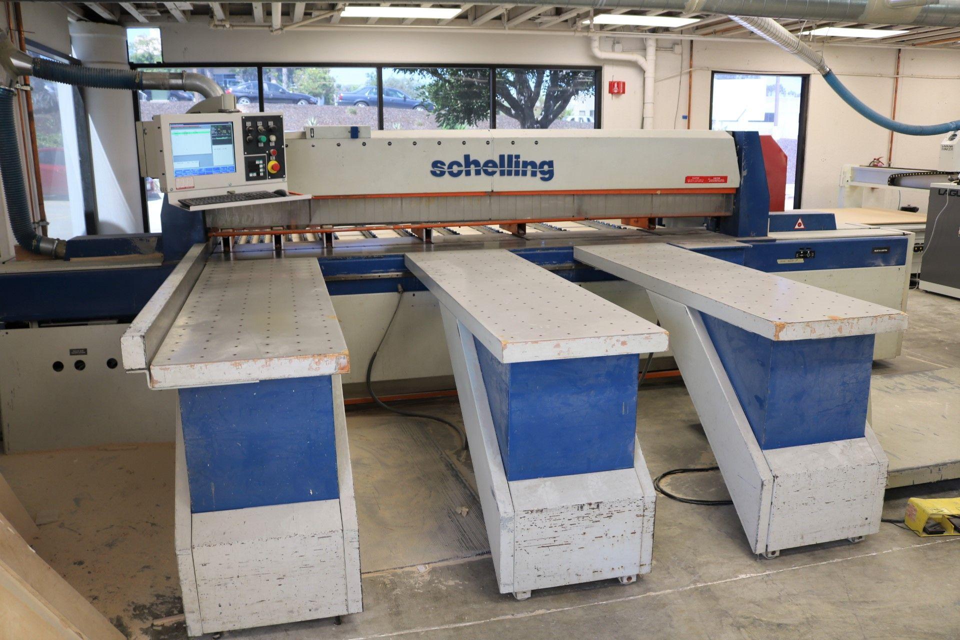 Lot 0C - 1994 SCHELLING CNC PANEL SAW, TYPE FI 330, FRONT LOADING, WIN COMMANDER CNC F1.330 CONTROL &
