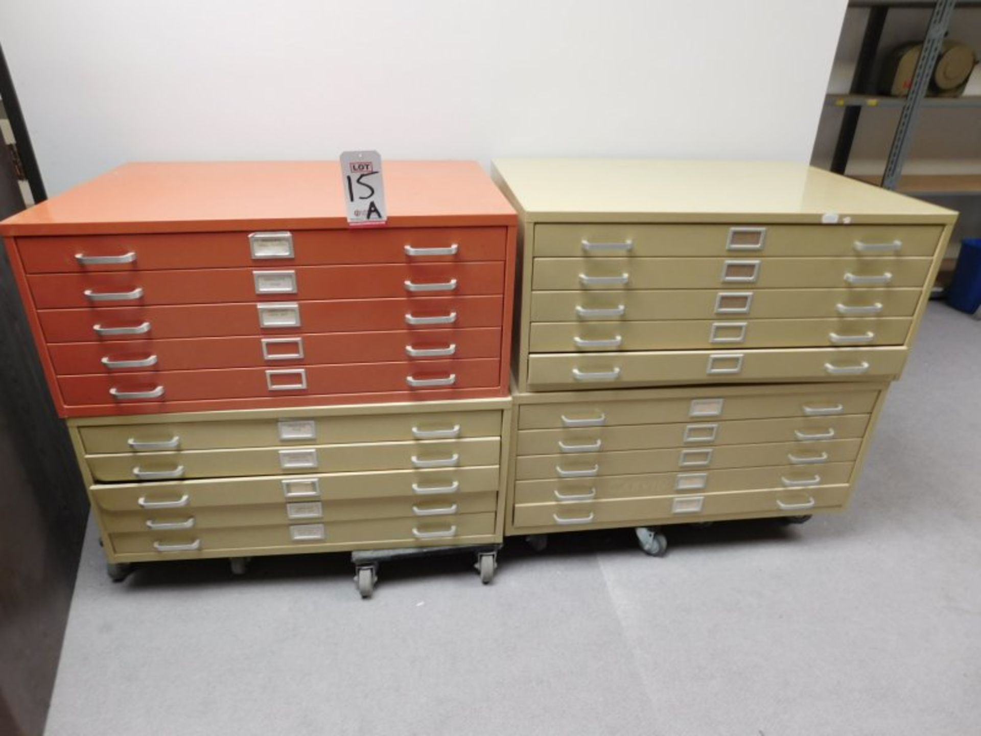 Lot 15A - LOT OF (4) 5-DRAWER BLUEPRINT CABINETS