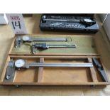 LOT - (2) DIAL CALIPERS AND (1) DIGITAL CALIPER